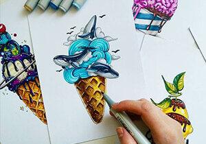 Pen Ink Illustration